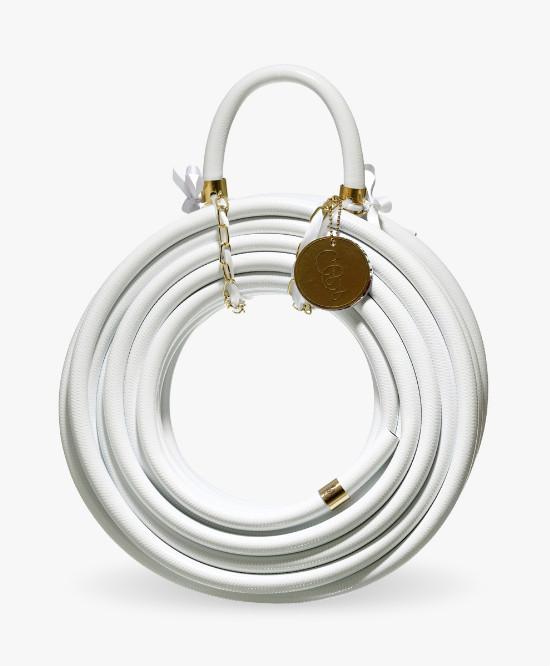Monochrome garden hose.